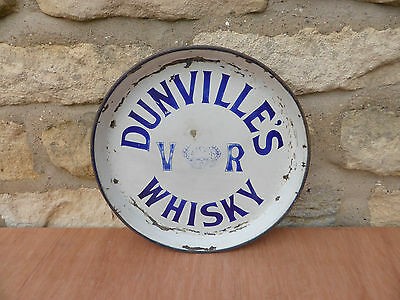 Victorian Dunvilles V.R. Whisky Enamel Brewery Tray
