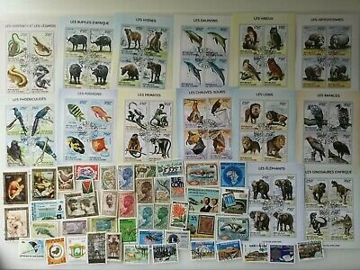 500 Different Ivory Coast Stamp Collection