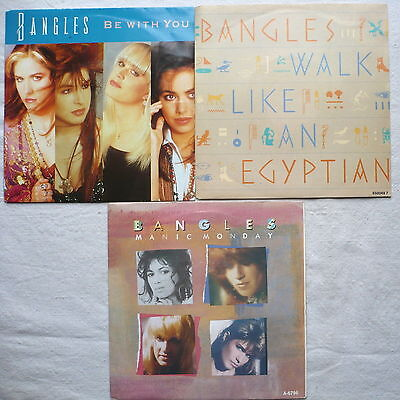 "BANGLES - 3 Singles 7""   Manic monday; Be with you; Walk like an egyptian"