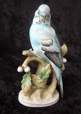 PORCELAIN PARAKEET W/ Acorns  Lefton China Japan