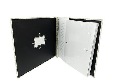 "JSP Large 160 Photos Slip In Photo Album 6""x4"" in Cream & Black Birds Theme"