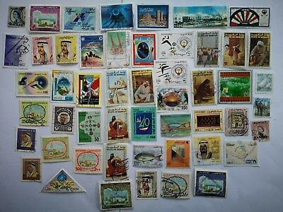 500 Different Kuwait Stamp Collection