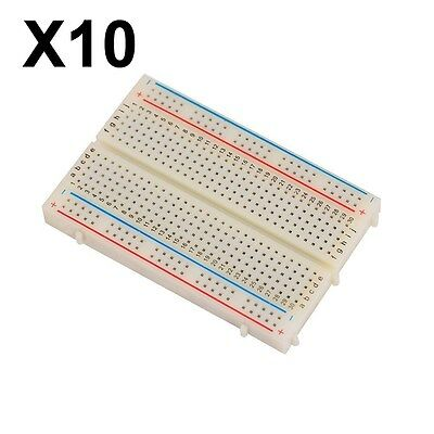 10 x Mini Universal Solderless BreadBoard 400 Contacts N1NC#