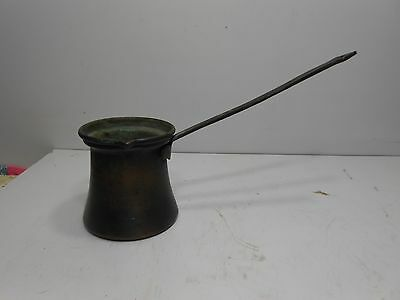 Vintage Brass (non magnetic) Pourer Ladle With Knurled Edge & Riveted Handle.