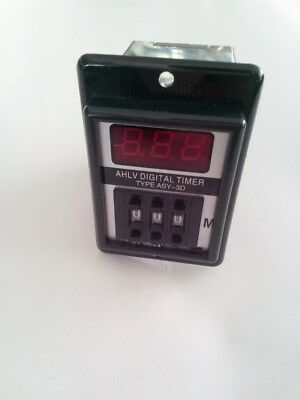 ASY-3D Panel Mount 1-999 minute Digital Timer Time Delay Relay AC/DC 24V