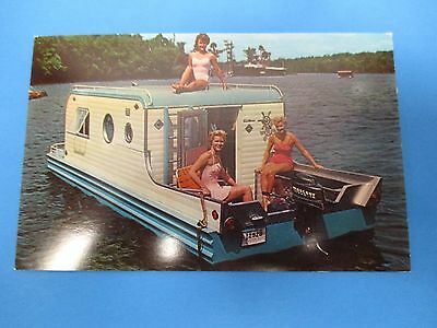 Terra-Marina Land & Water Cruiser Sanbornville,NH Vintage Factory Postcard PC33