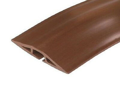 CORDUCT ON-FLOOR CORD PROTECTOR 5' Coil Brown