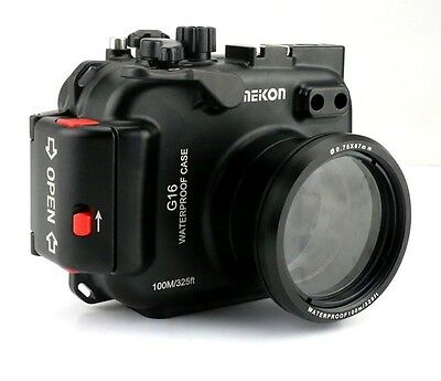 MEIKON G16 custodia sub housing underwater in alluminio x canon powershot G16