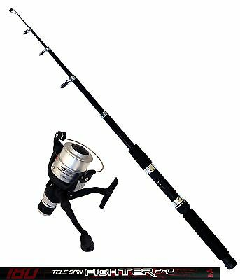 DAM Angelset Rute Tele Spin Fighter Pro 1,80m Angelrolle Quick Fighter 140RD