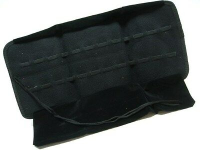 CARRY ALL Black Lined Knife Tool ROLL STORAGE Travel Case Holds 24 Knives! AC93