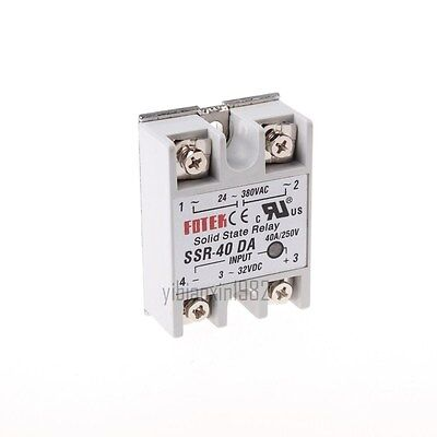 New DC-AC Metal Base Solid State Relay SSR-40DA 40A Output AC 24-380V