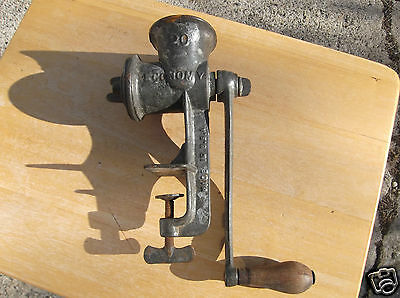 Vintage Economy 20 Cast Metal Meat Grinder Made in U.S.A.