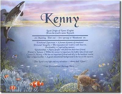 UNDER THE SEA Name Meaning Print Personalized ANY NAME Fish Whale Sea Turtles