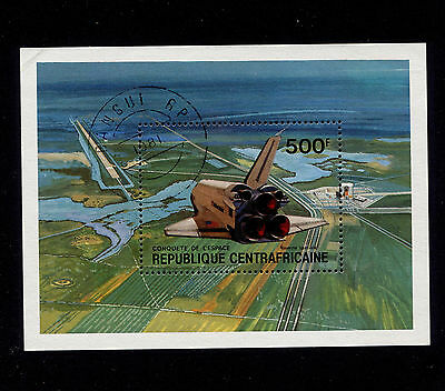 1981 Central African Rep. 500f Space Shuttle S/S CTO