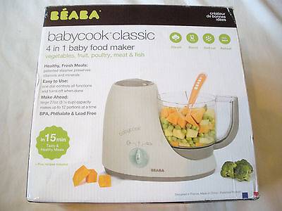 New BEABA Babycook Classic in Latte / Mint 4-in-1 Baby Food Maker