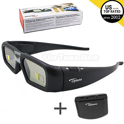New Optoma Projector Rechargeable Active Shutter 3D Glasses ZF2300 W/ emitter