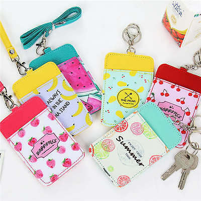 1x Fruit Oyster Card, Bus Pass, Student ID Card, Access Card Holder With Lanyard