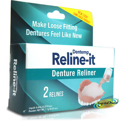Dentemp Reline It Soft Denture Reliner Advanced Formula D.O.C.