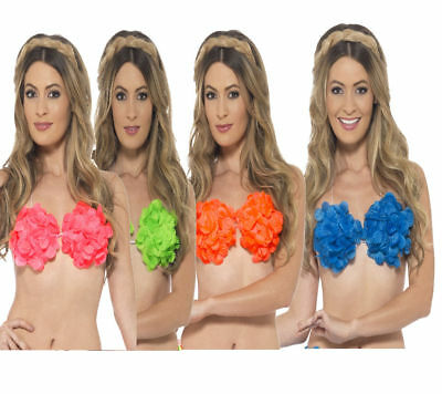 Hawaiian Bras Ladies Beach Party Fancy Dress Accessory