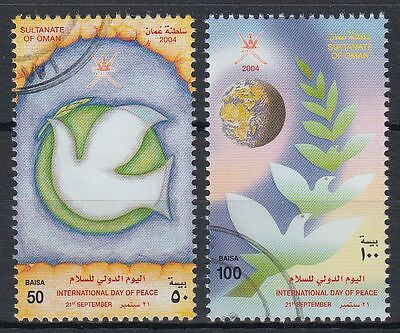 Oman 2004 fine used Mi.598/99 Frieden Peace Taube Dove [ga264]