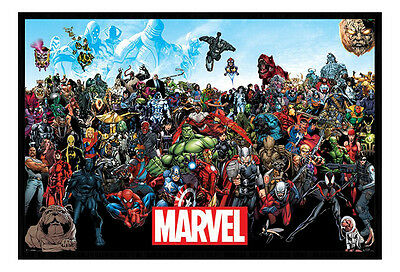 Marvel Universe Framed Cork Pin Notice Board With Pins