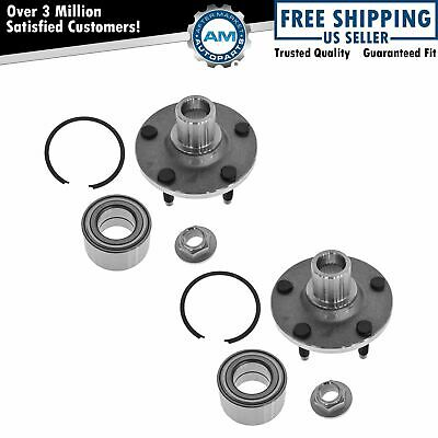 Front Wheel Hub & Bearing Pair Set of 2 NEW for Escape Tribute Mariner 5 Lug