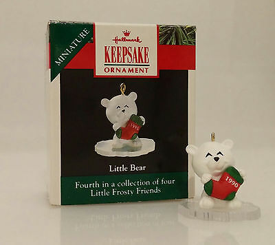 Hallmark Miniature Ornament 1990 Little Bear - Frosty Friends - #XPR9723-LB