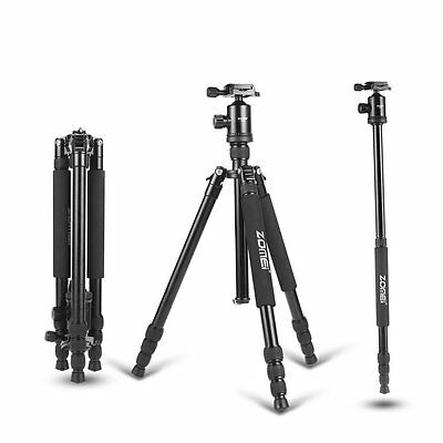 Zomei Z818 Professional Aluminum Tripod Monopod Ball Head for DSLR Camera