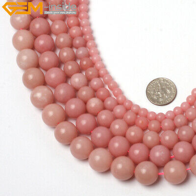 """Natural Stone Genuine Opal Gemstone Round Beads For Jewelry Making 15"""" Wholesale"""