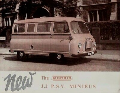 Morris J2 PSV Minibus original Brochure Excellent Condition 1959