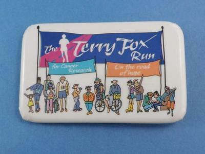 The Terry Fox Run For Cancer Cure On The Road Of Hope  Vintage Button Pin Back