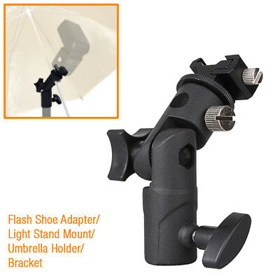 Flash Shoe Adapter Swivel Light Stand Mount Umbrella Holder Bracket E Type
