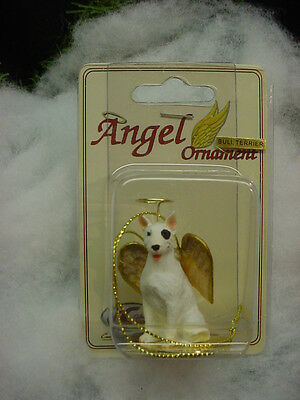 BULL TERRIER white dog ANGEL Resin ORNAMENT Figurine Statue NEW Christmas puppy