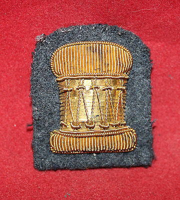 1900-1920 era, Drummer, Gold Wire, Trade / Badge Flash (inv 7388)