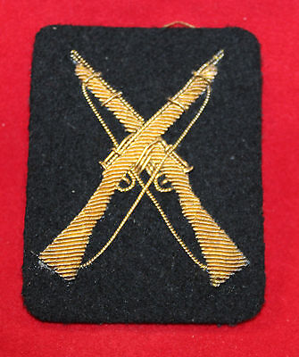 1900-1920 era Quailfied MARKSMAN Gold Wire Trade Flash / Badge  (inv 7380)