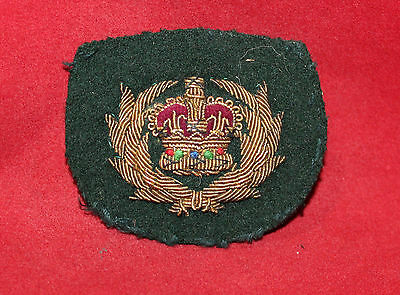 1952-1967era, WO 2nd Class, Gold Wire, Trade Flash / Badge (inv 7510)