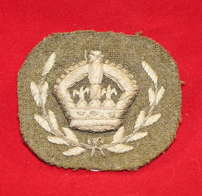 1915-1940, Warrant Officer Class 1, Cloth Rank Flash 2 piece.  (inv 7363)