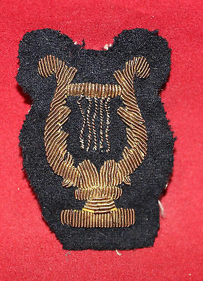 1900-1920 era, Bandsman, Gold Wire Trade Badge / Flash (inv 7389)