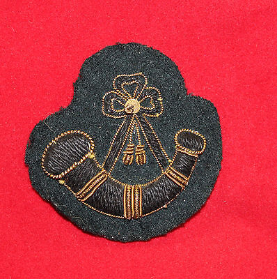 1900-1920 era Bugler Gold Wire Trade Flash / Badge  (inv 7383)