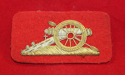 1900-1920 era, RCA Gunners Gold / Silver Wire Trade Flash / Badge  (inv 7378)
