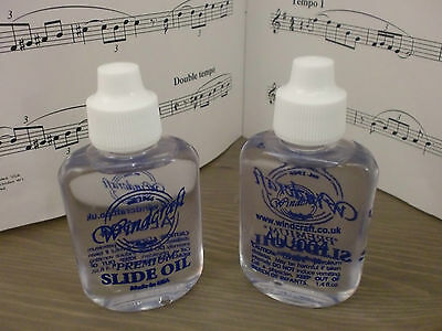 """Twin Pack Of Windcraft """"premium"""" Trombone Slide Oil From Usa. Top Value At £3.50"""