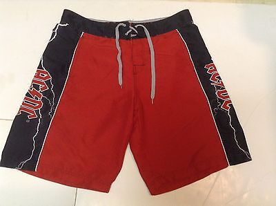 Vintage 2006 AC/DC AC DC Swim Swimming Trunks Board Shorts Bathing Suit SIZE 36""
