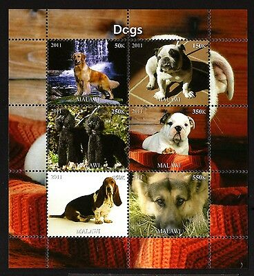 B22-MALAWI-DOGS MNH ** BLOCK.Local private issue.2011.FAUNA-Animal.CHIENS.Perros