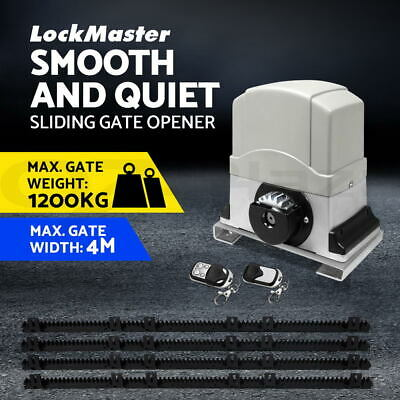 LockMaster Gate Opener Auto Electric Powered Swing Kit 2 x Remote Control 600kg