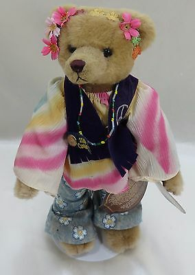 "Collectible Brass Button Bear 12"" IVY ""1960's Flower Child"" - 1999"