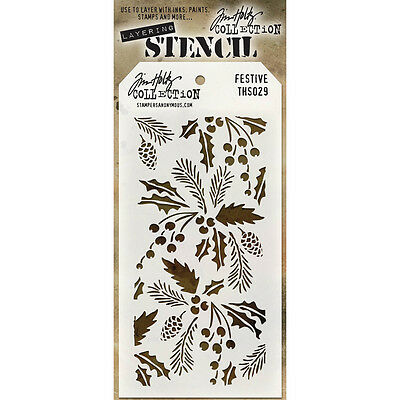 "/""Tim Holtz Layered Stencil 4.125/""/""X8.5/""/""-Honeycomb Set Of 3/"""