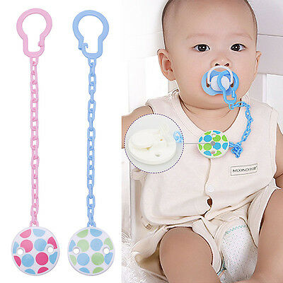 Cute Boy Baby Girl Infant Dummy Pacifier Soother Chain Clip Holder Toddler Toy