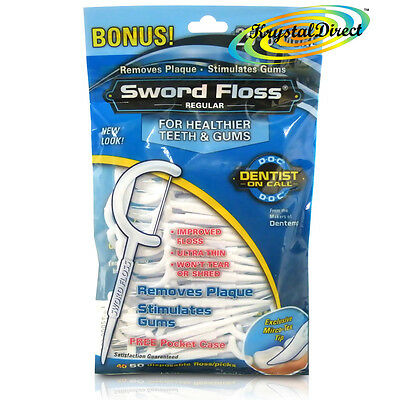 Dentemp Sword Floss Disposable Daily Tooth Dental Floss & Picks Regular 50 ea