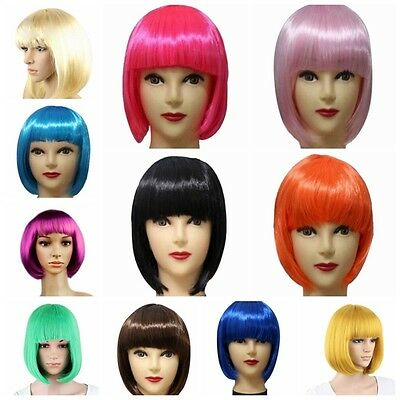 Chic Women BOBO Cosplay Party Full Wigs Hair Full Bangs Short Straight Wig