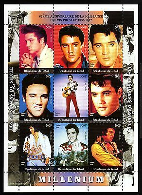 B24-R.du TCHAD-ELVIS PRESLEY MNH** BLOCK.Local private issue.2000.CELEBRITIES
